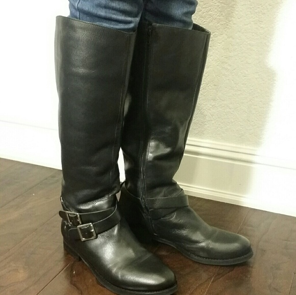 Matisse Shoes - Matisse Britain Black Leather Riding Boots 8.5